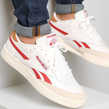 Reebok - Baskets Club C Revenge FY9418 White Marron Red Chalk