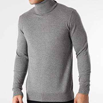 Uniplay - Pull Col Roulé CT003 Gris Chiné
