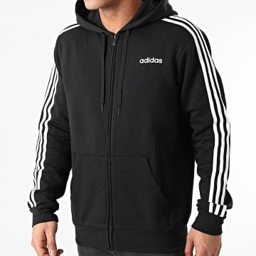 adidas - Sweat Zippé Capuche A Bandes Essential DQ3101 Noir