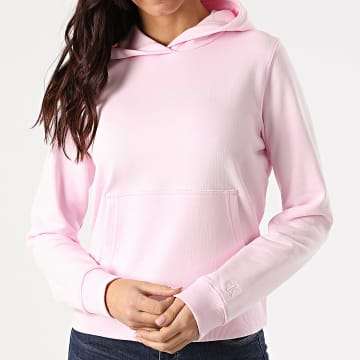 Calvin Klein - Sweat Capuche Femme Shrunken Institutional 5582 Rose