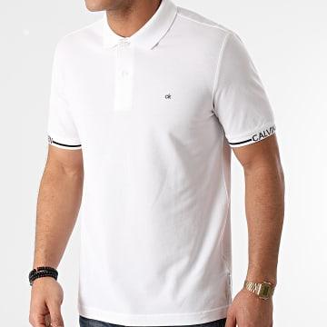 Calvin Klein - Polo Manches Courtes Logo Cuff 7148 Ecru