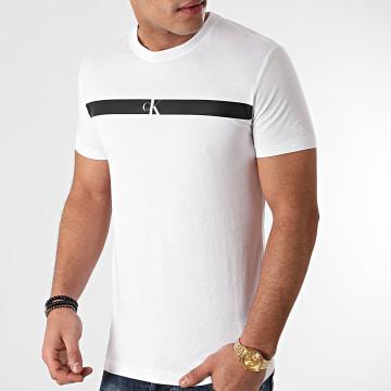 Calvin Klein - Tee Shirt Horizontal CK Panel 7165 Blanc