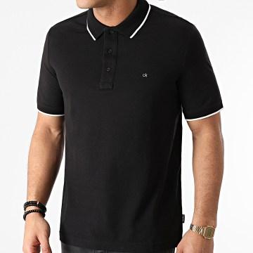 Calvin Klein - Polo Manches Courtes Stretch Tipping 7211 Noir