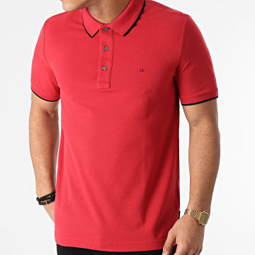 Calvin Klein - Polo Manches Courtes Stretch Tipping 7211 Rouge