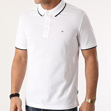 Calvin Klein - Polo Manches Courtes Stretch Tipping 7211 Ecru