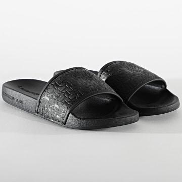 Calvin Klein - Claquettes AOP Embossed 0063 Black