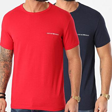 Emporio Armani - Lot De 2 Tee Shirts 111267-1P717 Rouge Bleu Marine