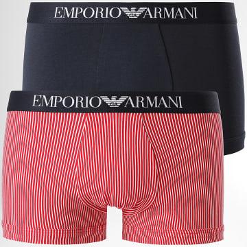 Emporio Armani - Lot De 2 Boxers 111210-1P504 Rouge Bleu Marine