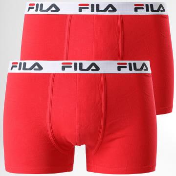 Fila - Lot De 2 Boxers FU5016 Rouge
