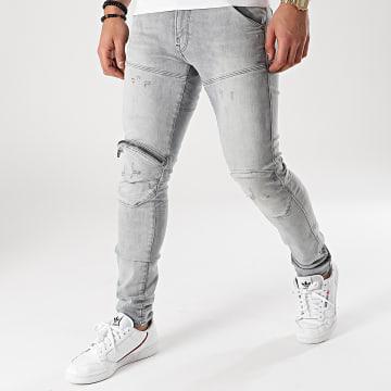 G-Star - Jean Skinny 5620 3D Zip Knee D01252-A634 Bleu Wash