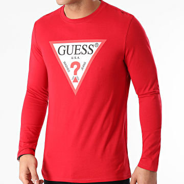 Guess - Tee Shirt Manches Longues M1RI31-I3Z11 Rouge