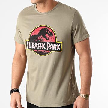 Jurassic Park - Tee Shirt Vintage Logo Vert Kaki
