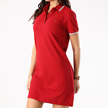 Kaporal - Robe Polo Manches Courtes Femme PIKAW22 Rouge