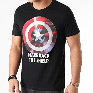 Captain America - Tee Shirt MEAMERCTS043 Noir