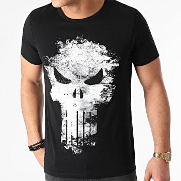 Marvel - Tee Shirt Distress Skull Noir