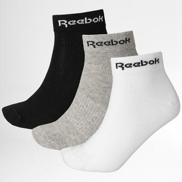 Reebok - Lot De 3 Paires De Chaussettes GH8168 Gris Blanc Noir