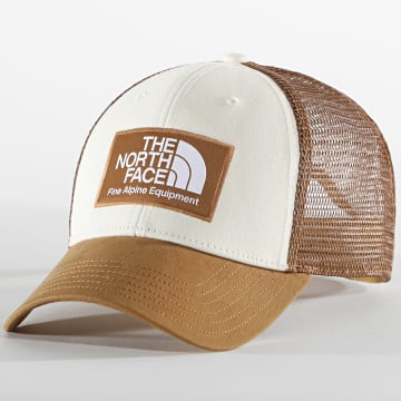 The North Face - Casquette Trucker Mudder Blanc Camel