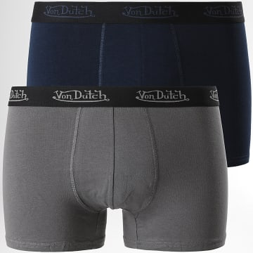 Von Dutch - Lot De 5 Boxers Basic Noir Bleu Marine