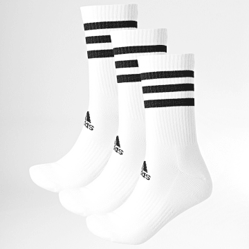 Adidas Performance - Lot De 3 Chaussettes 3 Stripes Cushioned DZ9346 Blanc