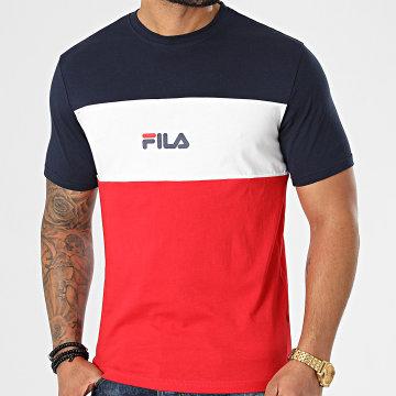 Fila - Tee Shirt Anoki Blocked 688468 Bleu Marine Blanc Rouge