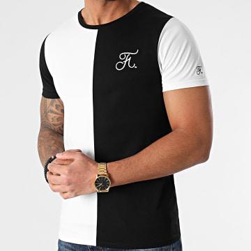 Final Club - Tee Shirt Bicolore Avec Broderie 555 Noir Blanc