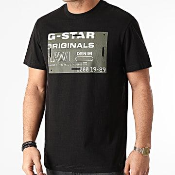 G-Star - Tee Shirt Flock Badge Graphic D19224-C336 Noir