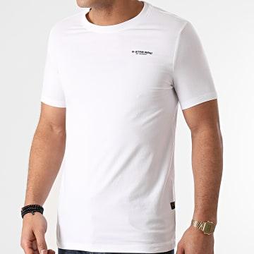 G-Star - Tee Shirt Slim Base D19070-C723 Blanc