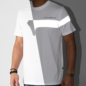 G-Star - Tee Shirt Reflective Graphic D19219-336 Blanc
