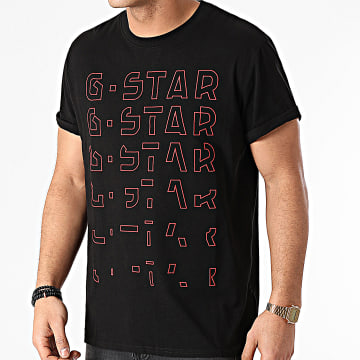 G-Star - Tee Shirt Embroidery Gradient Graphic Lash D19223-336 Bleu Marine