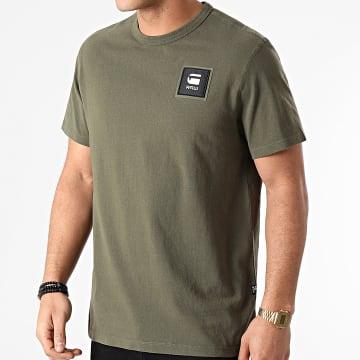 G-Star - Tee Shirt Badge Logo D18197-C336 Vert Kaki
