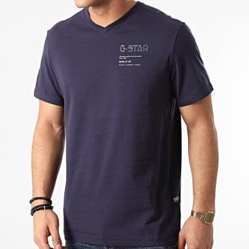 G-Star - Tee Shirt Chest Graphic D19218-336 Bleu Marine