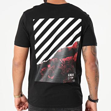 Luxury Lovers - Tee Shirt Roses Block Back Noir