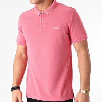 Superdry - Polo Manches Courtes Vintage Destroyed M1110014A Rose