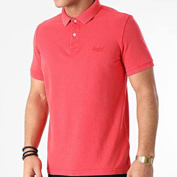 Superdry - Polo Manches Courtes Vintage Destroyed M1110198A Rouge