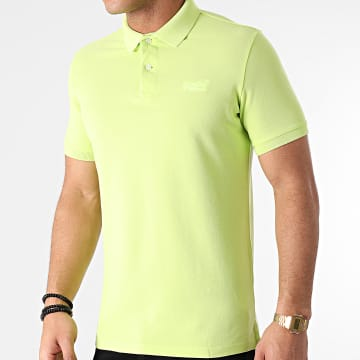 Superdry - Polo Manches Courtes Vintage Destroyed M1110198A Vert Fluo