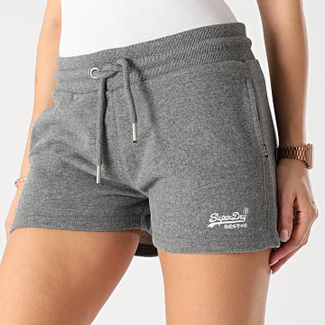 Superdry - Short Jogging Femme W7110219A OL Classic Jersey Gris Chiné