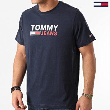 Tommy Jeans - Tee Shirt Corp Logo 0214 Bleu Marine
