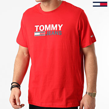 Tommy Jeans - Tee Shirt Corp Logo 0214 Rouge