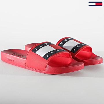 Tommy Jeans - Claquettes Flag 0689 Deep Crimson