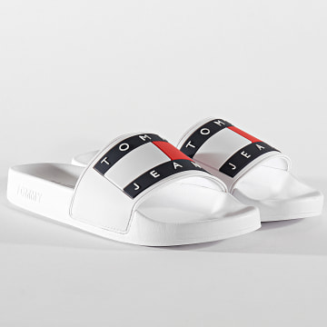 Tommy Jeans - Claquettes Flag Pool Slide 0689 White