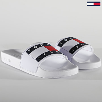 Tommy Jeans - Claquettes Femme Flag Pool Slide 1378 White