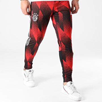 Adidas Performance - Pantalon Jogging A Bandes FC Bayern AOP GK8624 Rouge Noir