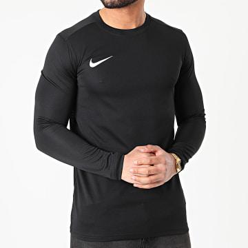 Nike - Tee Shirt De Sport Manches Longues Dry Park Noir