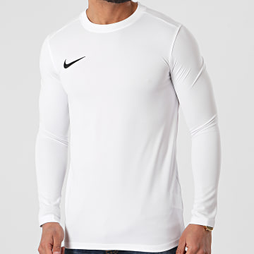 Nike - Tee Shirt De Sport Manches Longues Dry Park Ecru