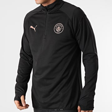 Puma - Tee Shirt De Sport Manches Longues Manchester City Warmup 758702 Noir
