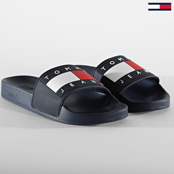 Tommy Jeans - Claquettes Femme Flag Pool Slide 1378 Twilight Navy