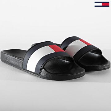 Tommy Hilfiger - Claquettes Essential Flag Pool Slide 3484 Black