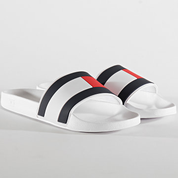 Tommy Hilfiger - Claquettes Essential Flag Pool Slide 3484 White