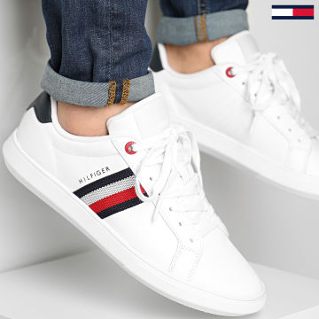 Tommy Hilfiger - Baskets Essential Leather Cupsole 3424 White