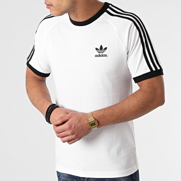 Adidas Originals - Tee Shirt A Bandes 3 Stripes GN3494 Blanc
